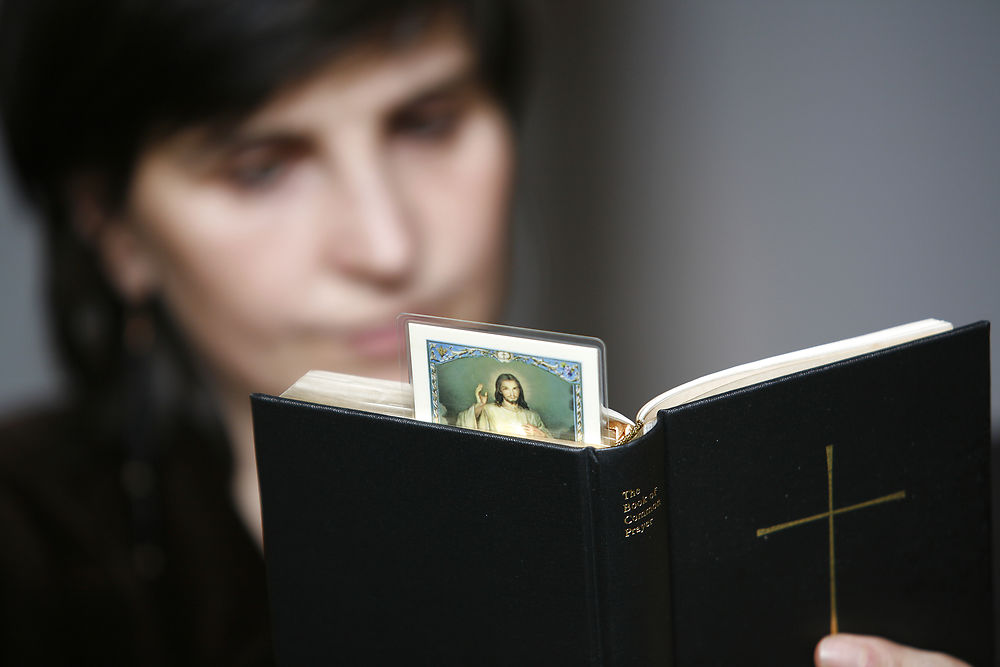 Woman reading the Bible -