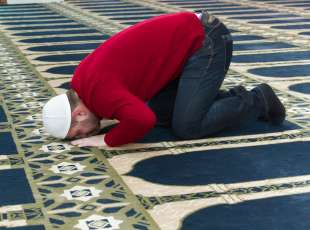 Photo of the Muslim Man Is Praying In The