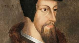 This handout picture shows a painting from an anonymous painter of French theologist John Calvin, released on ...