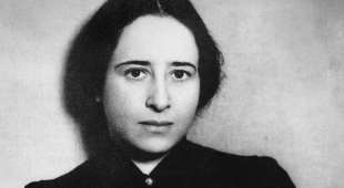 HANNAH ARENDT (1906-1975). American (German-born) philosopher and political scientist. Photographed