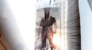 """A billboard for the biblical epic film """"Noah"""" starring Russell Crowe is seen March 11,    2014  in ..."""