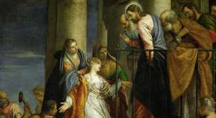 """Veronese, Paolo, real name Paolo Caliari, 1528-1588.-""""The awakening of the young man of ..."""