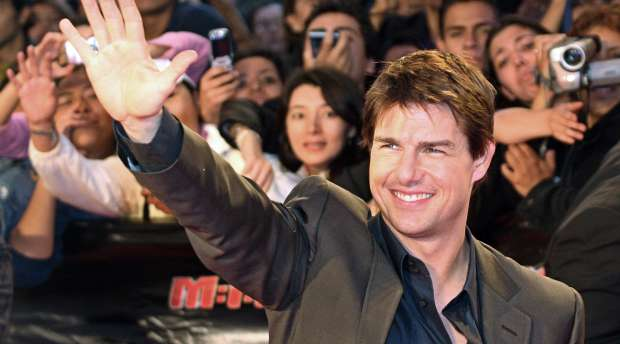 FILES - A picture taken 01 May 2006 shows US actor Tom Cruise waving to fans during the premiere in Mexico of ...