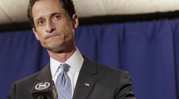 U.S. Congressman Anthony Weiner (D-NY) reacts as he speaks to the media in New York in this June 6, 2011 file ...
