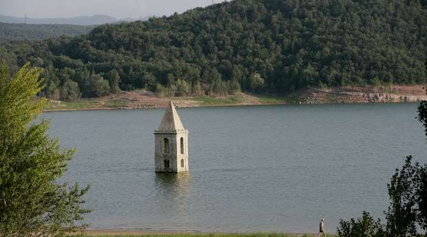 Sau reservoir. Catalonia.