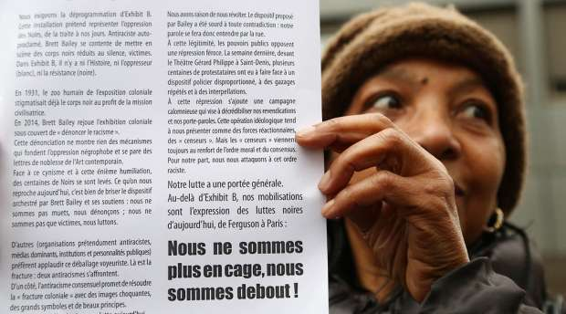 07 Dec 2014, Paris, France - - - Paris, France. 7th December 2014 - - A woman during the rally outside the ...